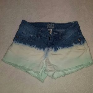 Justice ombre denim shorts
